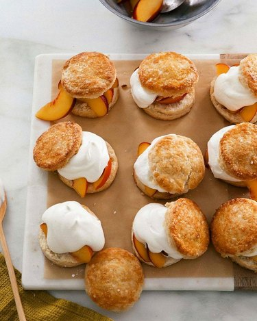 A Cozy Kitchen Peach Shortcakes