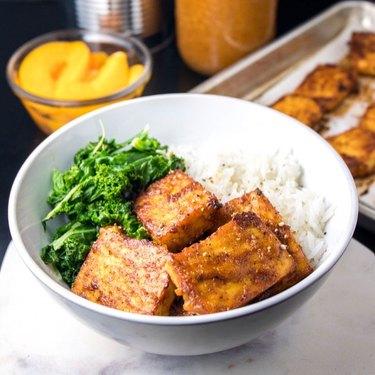 The Viet Vegan Peach BBQ Baked Tofu