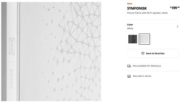 IKEA Symfonisk Picture Frame With Wi-Fi Speaker