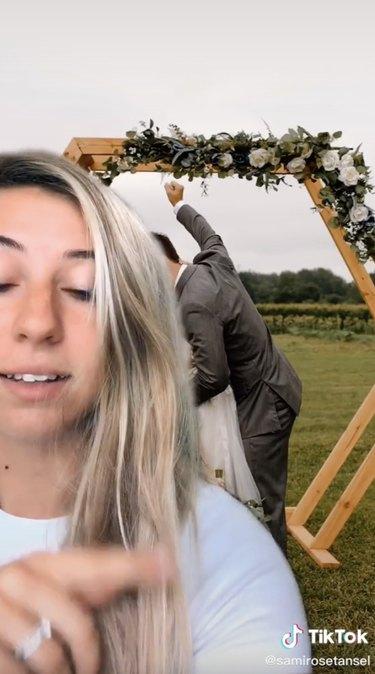 fake flowers wedding hack