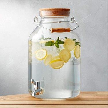 Crate & Barrel Acrylic Drink Dispenser
