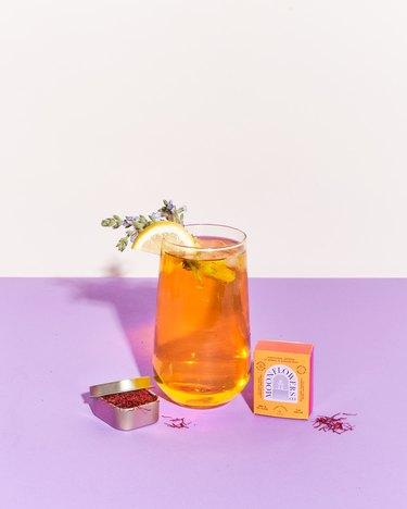 moonflowers saffron iced tea