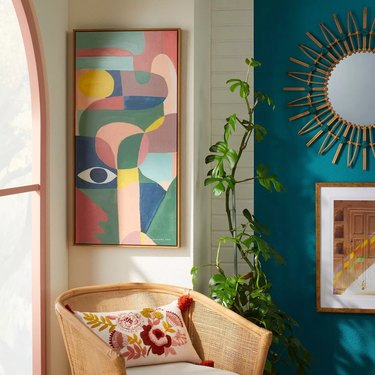 Curvy Framed Wall Art