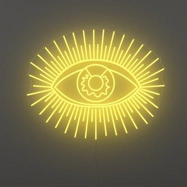 golden eye neon light