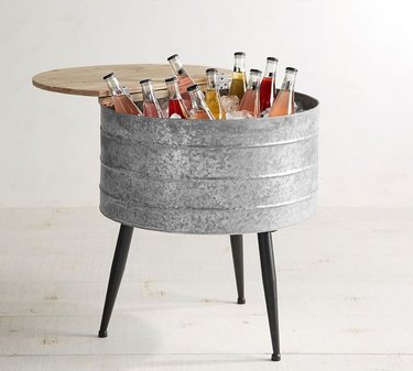 Pottery Barn Galvanized Metal Stand-Up Cooler