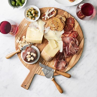 Williams Sonoma Olivewood Round Cheese Board