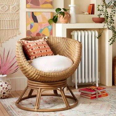 Castilia Rattan Egg Chair Ivory