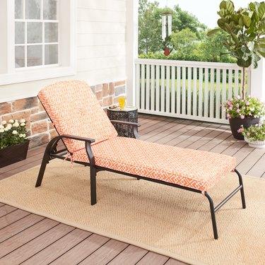 Mainstays Belden Park Cushion Steel Outdoor Chaise Lounge