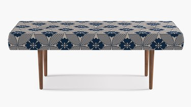 blue-and-white bench