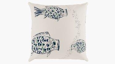 fish print pillow