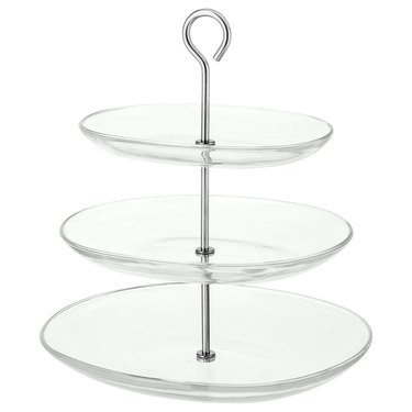 serving stand with three tiers