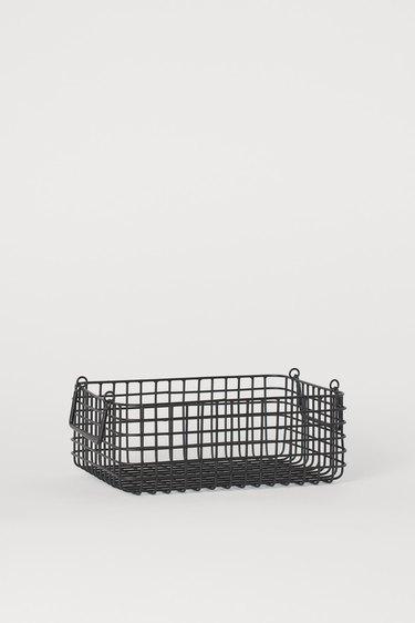 square metal bread basket