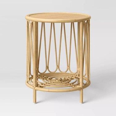 circular rattan side table