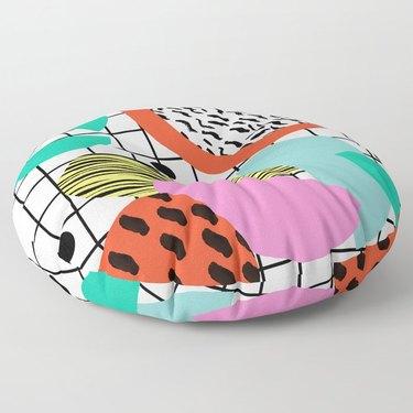 memphis design floor pillow