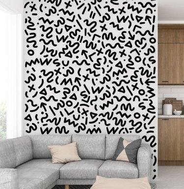 memphis style removable wallpaper