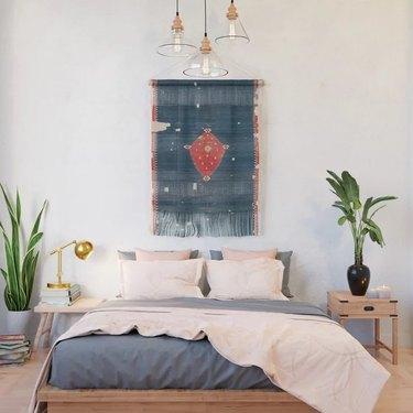 wall hanging in bedroom