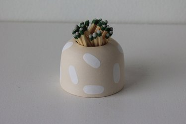 artisanal ceramic match striker