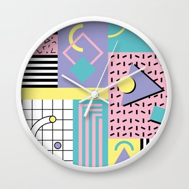 new wave neon wall clock