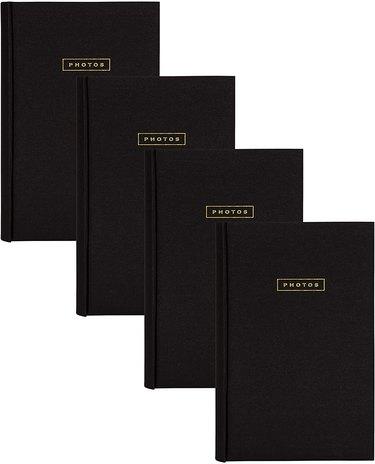 DesignOvation Black Fabric Deluxe Photo Albums
