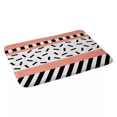 memphis design bath mat