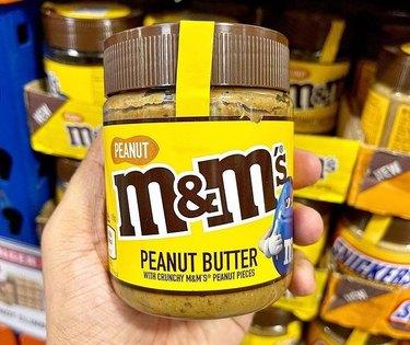 peanut m&m's peanut butter jar