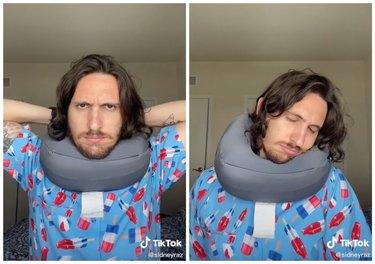 neck pillow hack tiktok