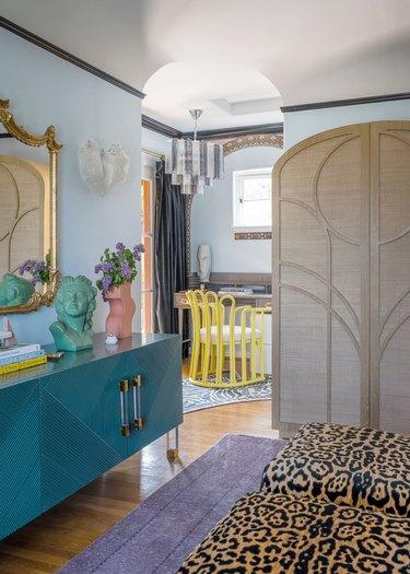Bohemian hallway by Black Lacquer Design