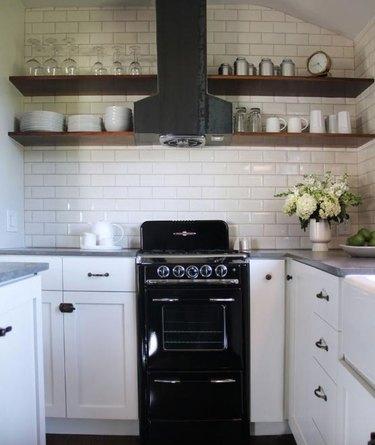 cozy white cottage kitchen