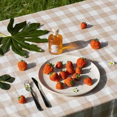 brightland lush vinegar with oishii strawberries