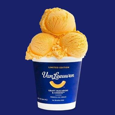 Van Leeuwen's Kraft Macaroni & Cheese ice cream
