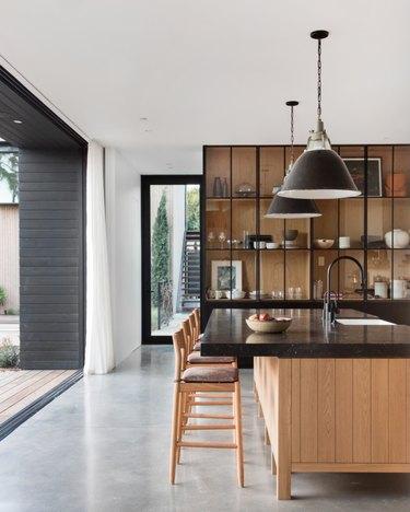 kitchen accent wall storage cabinet