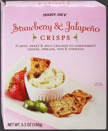 box of strawberry and jalapeño crisps