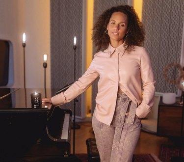 Alicia Keys in her home