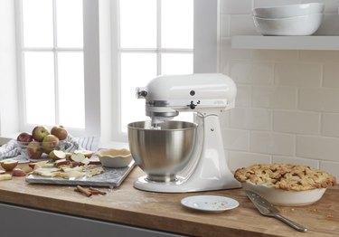 White stand mixer