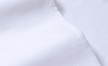 close-up of white sheets