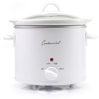 White slow cooker