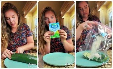 Ranch cucumber TikTok trend