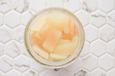 Add watermelon rind to jar