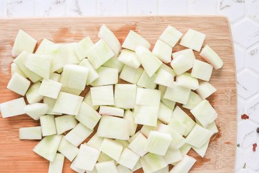 Cut rind into 1-inch pieces