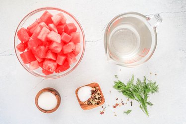 Ingredients for pickled watermelon