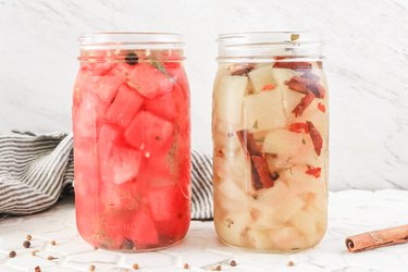 pickled watermelon and rind