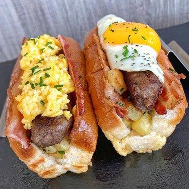 The Josh Elkin Breakfast Hot Dogs