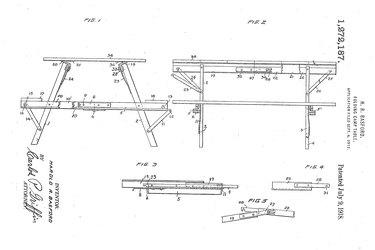 Harold R. Basford picnic table patent