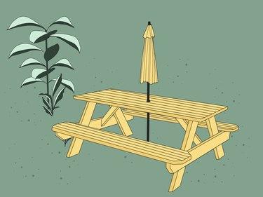 picnic table illustration