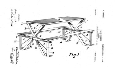 Charles H. Nielsen picnic table patent