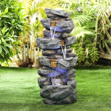 Overstock outdoor water fountain