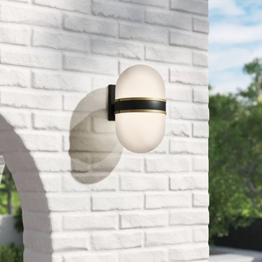 Frosted outdoor wall lantern