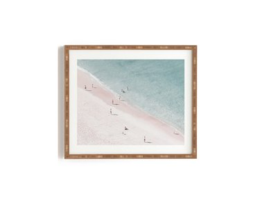 Beach framed image