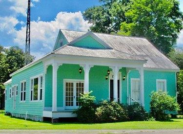 blue Louisiana home