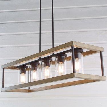 Rustic hanging light